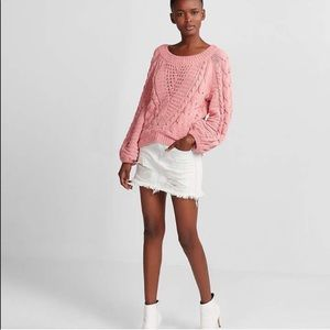 NWT! Express chenille balloon sleeve sweater